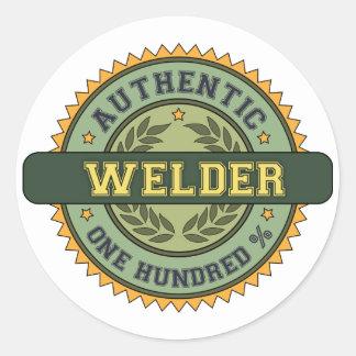 Authentic Welder Classic Round Sticker