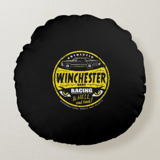 Authentic Winchester Bros Round Pillow