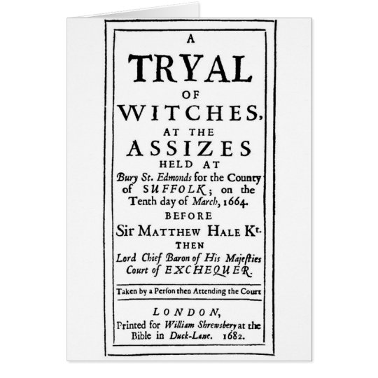 Authentic Witch Trials Poster Card