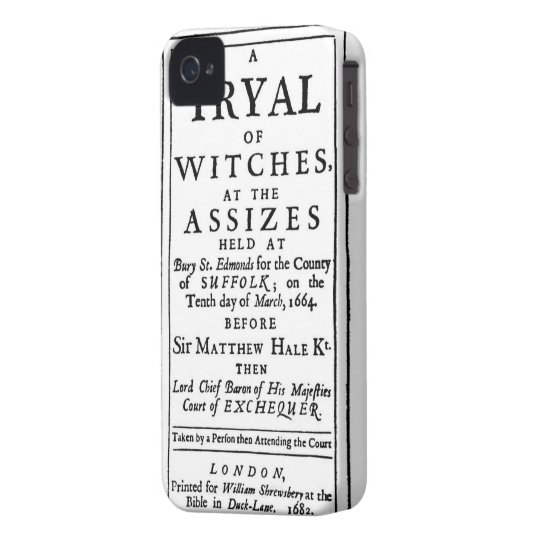 Authentic Witch Trials Poster Case-Mate iPhone 4 Case