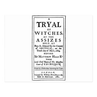 Authentic Witch Trials Poster Postcard