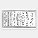 Authentic Witch Trials Poster Rectangular Sticker