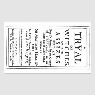 Authentic Witch Trials Poster Rectangular Stickers