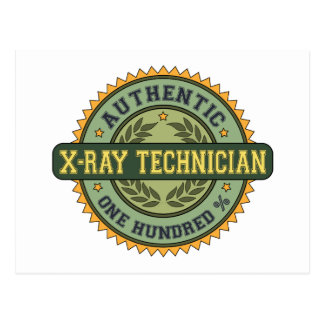 Authentic X-Ray Technician Postcard