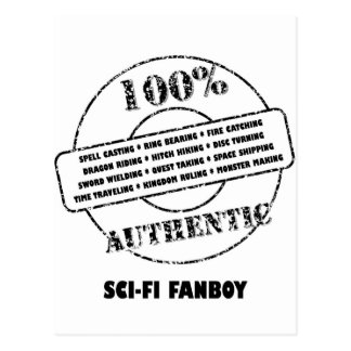 AuthenticSciFi Fanboy Postcard