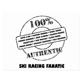 AuthenticSki Racing Fanatic Postcard