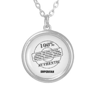 AuthenticSuperfan Silver Plated Necklace