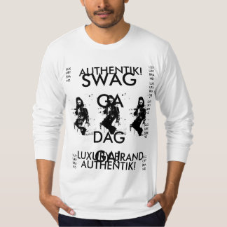 AUTHENTIK SWAGGA DAGGA! LUXORY TWO TONE FITTED T-Shirt