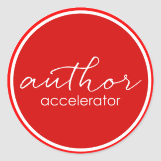 Author Accelerator sticker
