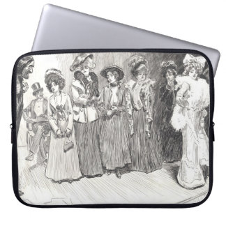 Author and Soubrette 1902 Computer Sleeve