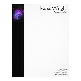 Author Book Cover Letterhead