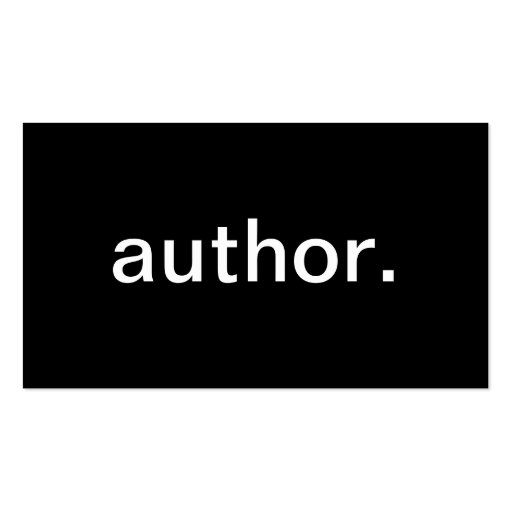 Author business card zazzle for Authors business cards