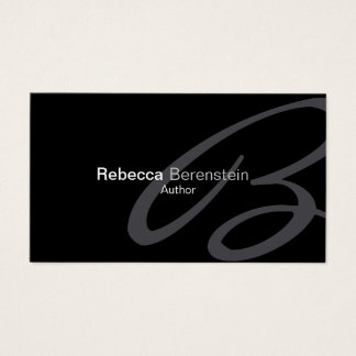Author Business Card Fancy Monogram