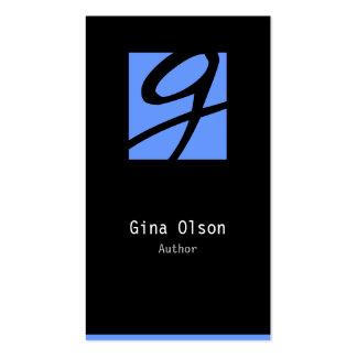 Author Business Card Monogram Block