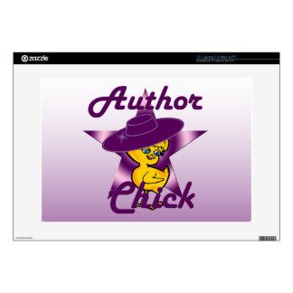 """Author Chick #9 15"""" Laptop Decal"""