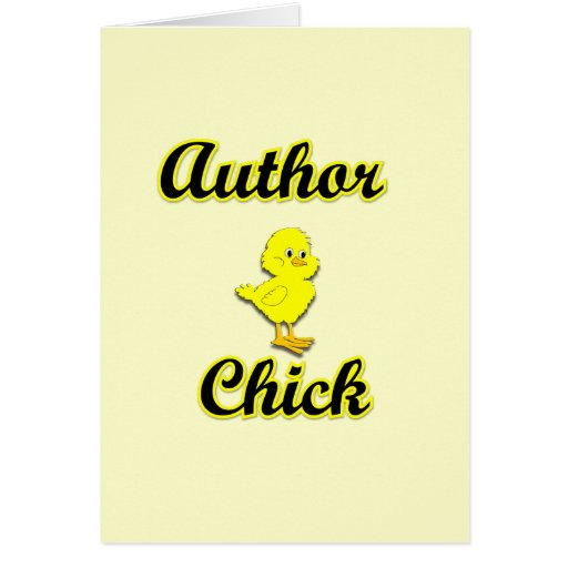 Author Chick Greeting Card