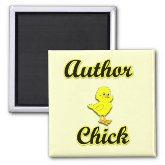 Author Chick Magnets