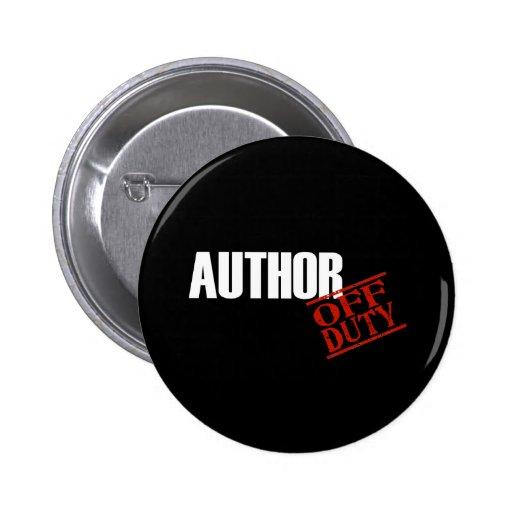 Author Dark Pinback Button