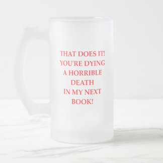 AUTHOR FROSTED GLASS BEER MUG