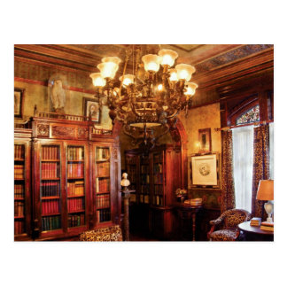 Author - In the Library Postcard