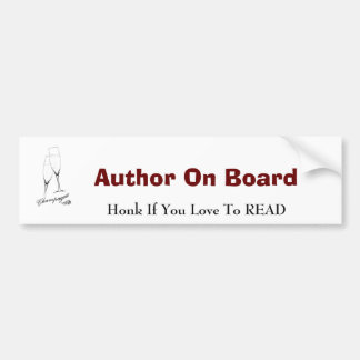 Author On Board Bumper Sticker