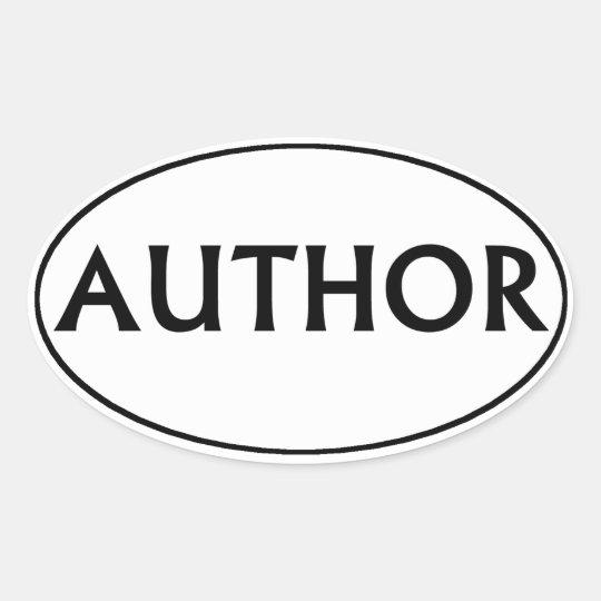 Author Oval Bumper Sticker