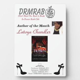 Author photo Plaque