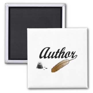 Author Quill 2 Inch Square Magnet