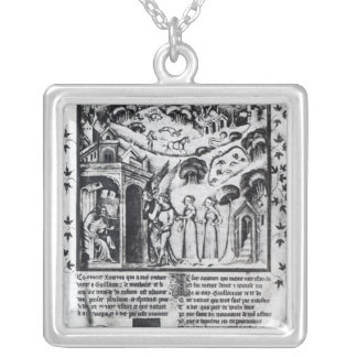 author receiving Love who brings Sweet Thoughts, Square Pendant Necklace