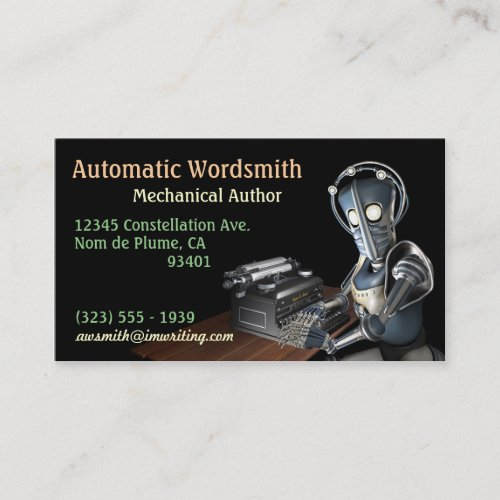 Author (Robot) Business Cards