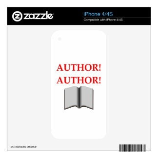 AUTHOR SKIN FOR iPhone 4S