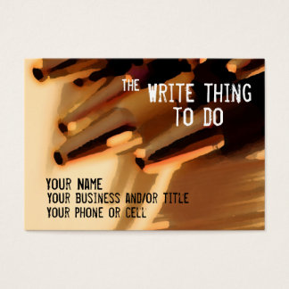 Author ... the write thing to do business card
