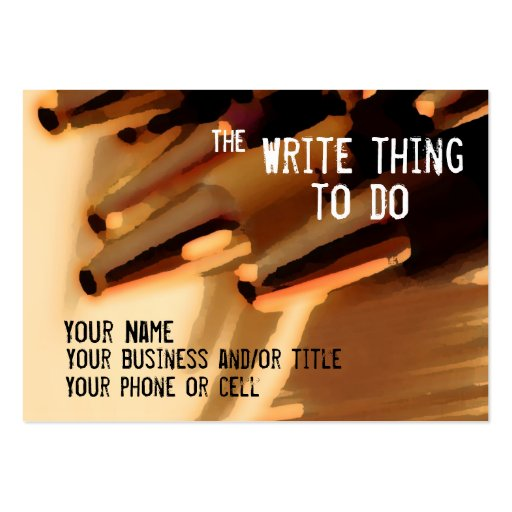 Author ... the write thing to do business card template