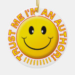 Author Trust Me Smiley Christmas Tree Ornaments