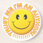 Author Trust Me Smiley Drink Coasters