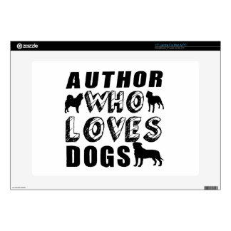 """author Who Loves Dogs 15"""" Laptop Decal"""