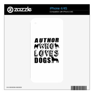 author Who Loves Dogs iPhone 4 Decals