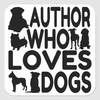 Author Who Loves Dogs Stickers
