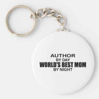 Author - World's Best Mom Basic Round Button Keychain