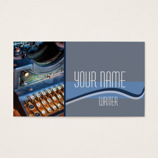 Author, Writer, or Editor Antique Typewritter Business Card