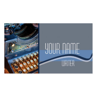 Author, Writer, or Editor Antique Typewritter Double-Sided Standard Business Cards (Pack Of 100)