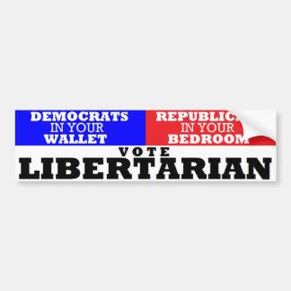 Authoritarian Wallet & Bedroom-Vote Libertarian Bumper Sticker