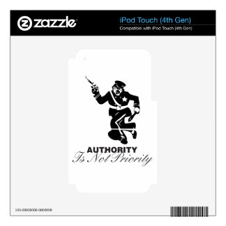 Authority is not Priority iPod Touch 4G Decals