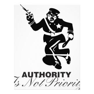 Authority is not Priority Letterhead