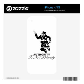 Authority policeman iPhone 4S decals