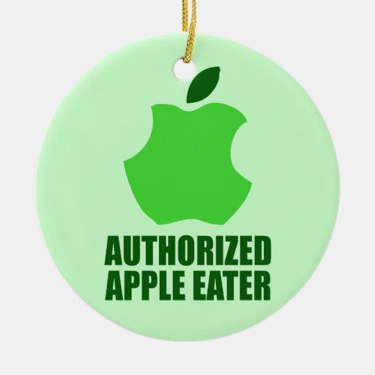 Authorized Apple Eater Ceramic Ornament