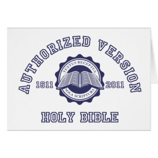 Authorized Version College Style in blue Card