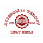 Authorized Version College Style in red distressed Postcards