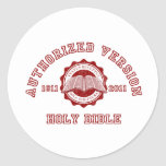 Authorized Version College Style in red distressed Stickers