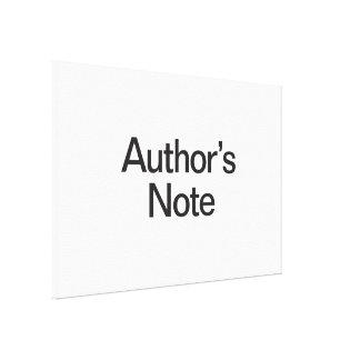 authors note canvas print